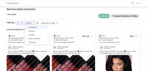 FB ads filter platform